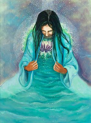 Anahata Painting - Head To Heart by Joyce Huntington