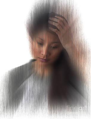 Headache Sufferer Print by George Mattei