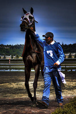 Horse Racing Photograph - Headed To The Paddock by David Patterson