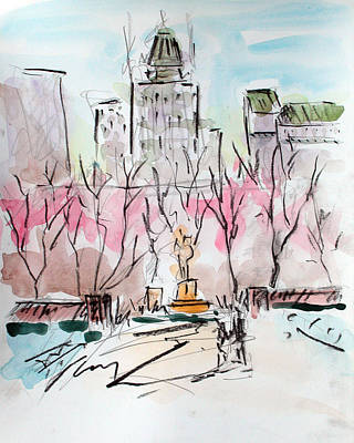 Heading Back To The Plaza Print by Chris Coyne
