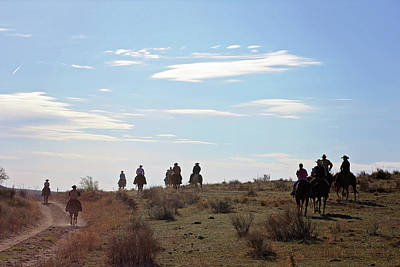 Working Cowboy Photograph - Heading Home by Della Moyer