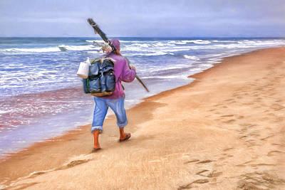 Heading Home - Ocean Fisherman Print by Nikolyn McDonald