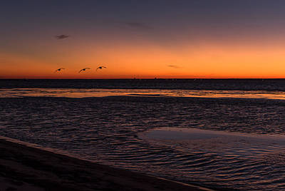 Heading Home Sunset Seaside Nj Print by Terry DeLuco