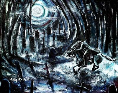 Cemetary Painting - Headless In The Hollow by Shana Rowe Jackson
