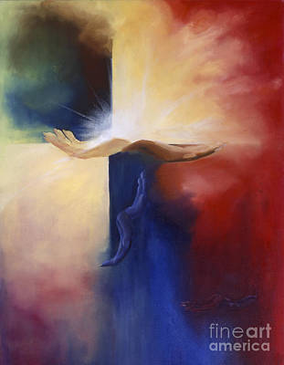 Inspirational Painting -  Hope And  Healing  Unconditional Love by Maria Hunt
