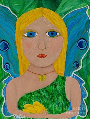 Blue Healer Painting - Healer by Kelly Lapan