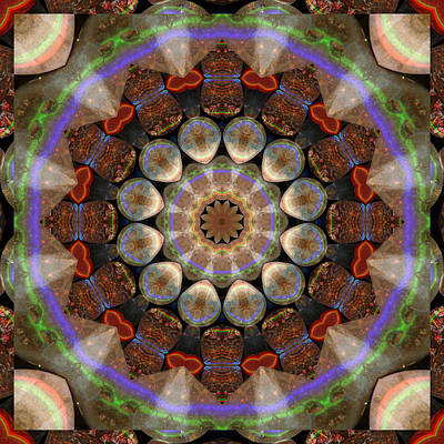 Crystal Photograph - Healing Mandala 30 by Bell And Todd