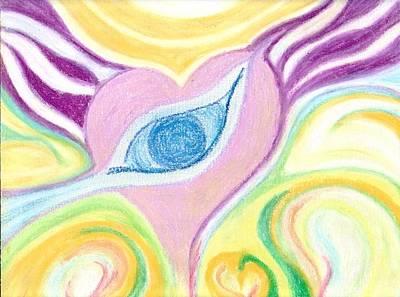 Tears Drawing - Healing The Tears by Julia Woodman
