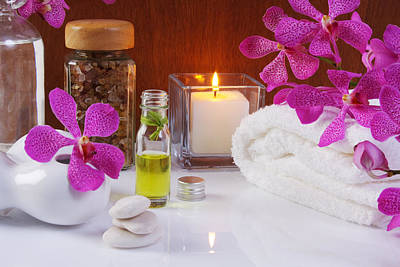 Orchid Photograph - Health Spa Concepts  by Atiketta Sangasaeng