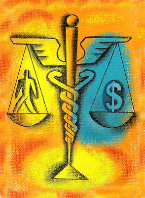 Healthcare Cost Print by Leon Zernitsky