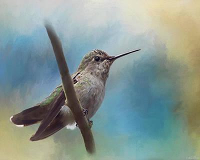 Jordan Painting - Hear Her Song - Hummingbird Art by Jordan Blackstone