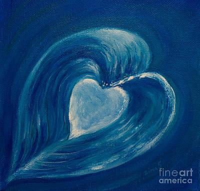 Heart Painting - Heart Abstract by Zina Stromberg