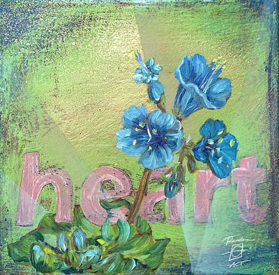Painting - Heart Blue Wildflower by Andrea LaHue