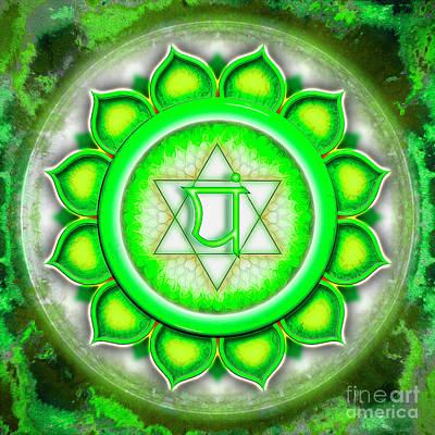 Anahata Digital Art - Heart Chakra - Series 5 by Dirk Czarnota