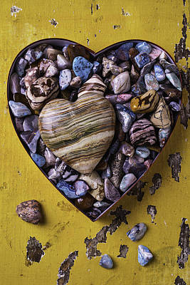 Heart Shaped Rock Photograph - Heart In Heart Box by Garry Gay