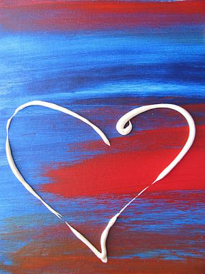 Free Form Painting - Heart In Motion by Lindie Racz