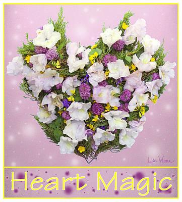 Fairy Hearts Pink Flower Digital Art - Heart Magic by Lise Winne
