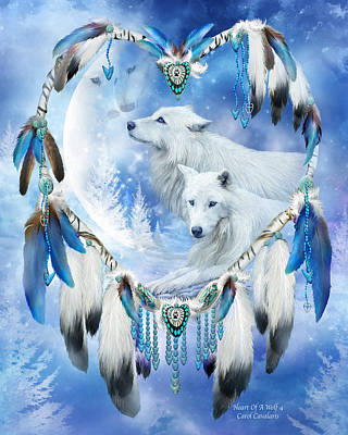 Heart Of A Wolf 4 Print by Carol Cavalaris