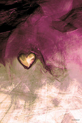 Abstract Movement Digital Art - Heart Of Gold by Linda Sannuti