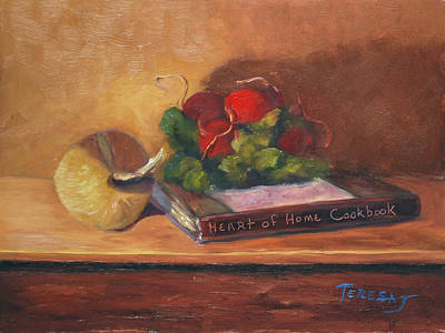 Cookbook Painting - Heart Of Home by Teresa Lynn Johnson