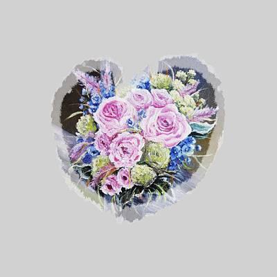Flower Painting - Heart Of Rose by Vesna Martinjak