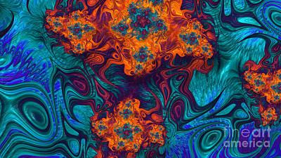 Artistic Digital Art - Heart Of The Sun by John Edwards