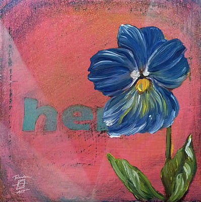 Painting - Heart Pansy by Andrea LaHue