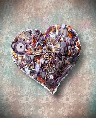 Robert Palmer Mixed Media - Heart by Robert Palmer