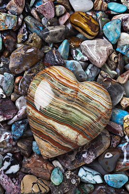 Turquoise Photograph - Heart Stone by Garry Gay