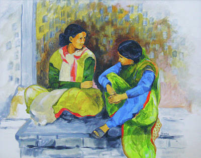 Relaxed Talk Drawing - Heart-to-heart by Sharmila L