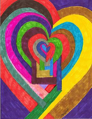 Heart Under Rennovation Print by Brenda Adams