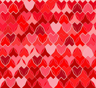 Hearts Background Print by Soran Shangapour