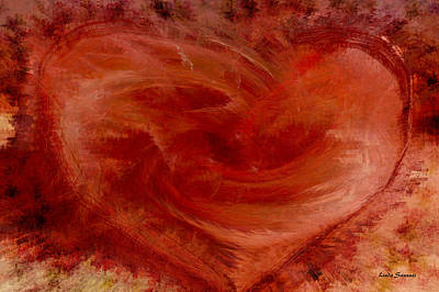 Energy Art Movement Digital Art - Hearts Of Fire by Linda Sannuti