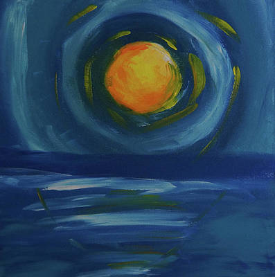 Earthtone Colored Art Painting - Heat And Cool by Adam Asar