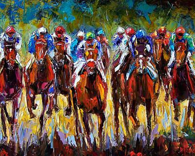Derby Painting - Heated Race by Debra Hurd