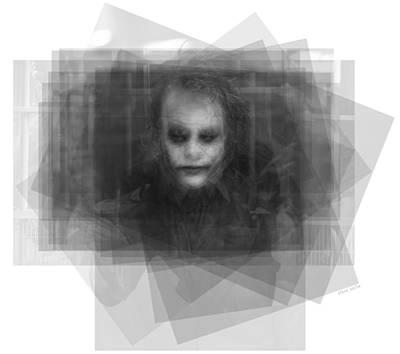 Heath Ledger Digital Art - Heath Ledger As The Joker by Steve Socha