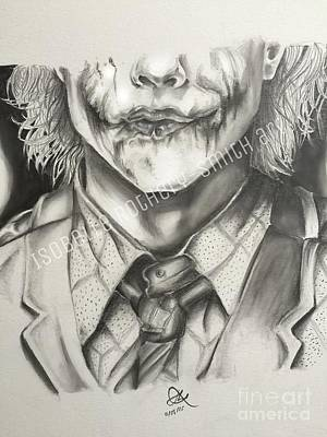 Heath Ledger Drawing - Heath Ledger Joker Pencil Sketch by Isobelle Rothery-Smith