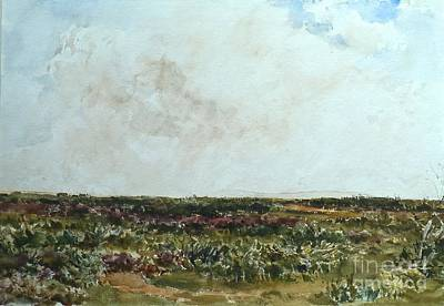 Heathland Scene Looking Towards Print by Thomas Collier