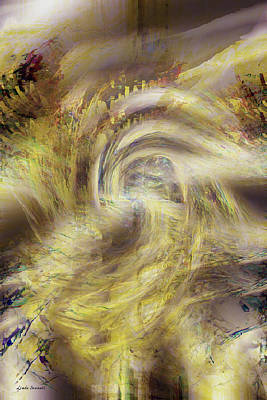 Energy Art Movement Digital Art - Heaven And Earth by Linda Sannuti