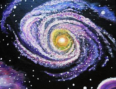 Constellations Painting - Heavenly Galaxy by April Harker