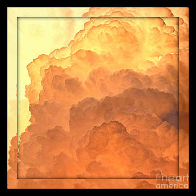 Heavenly Square 4 Print by Carol Groenen