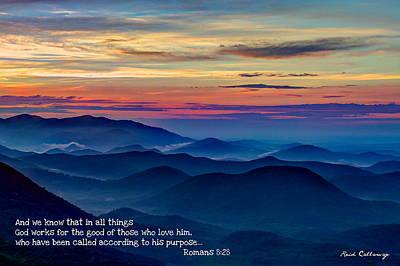 Heavenly View Sunrise And Faith Print by Reid Callaway