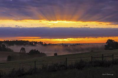 Heavens Glow Walker Church Road Sunrise Print by Reid Callaway