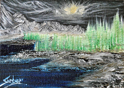 Painting - Heavens Meets The Earth by Suzanne Surber