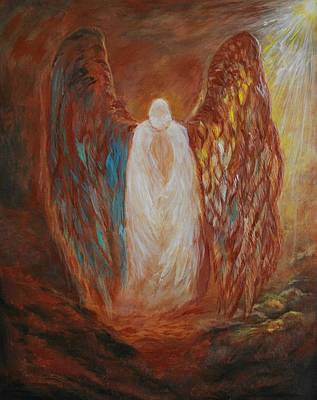 Comfort Painting - Heavens Watch by Leslie Allen