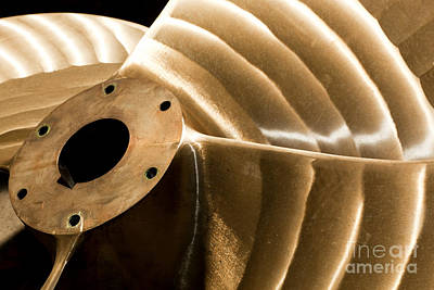Metal Photograph - Heavy Industrial Shipbuilding Element Close-up by Michal Bednarek