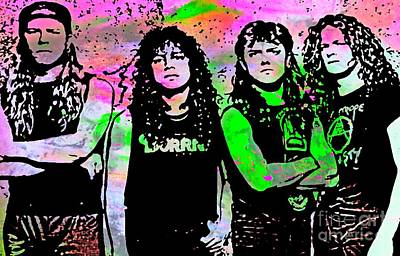 Megadeth Painting - Heavy Metal Delight by John Malone