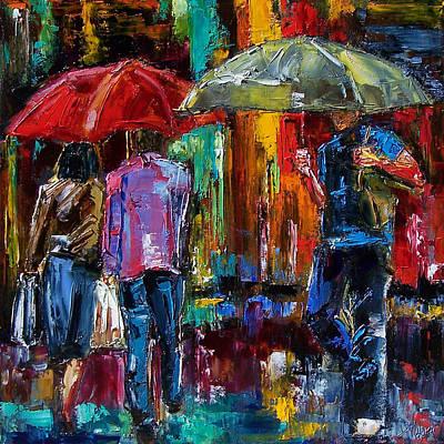Heavy Rain Print by Debra Hurd