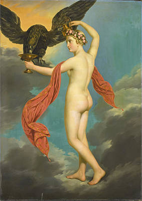 Painting - Hebe With Jupiter In The Guise Of An Eagle by Gustav-Adolphe Diez