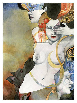Greek Painting - Hecate by Patricia Ariel